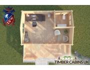 Log Cabin Parbold 6m x 4m 004