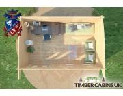 Log Cabin Plymouth 5.5m x 3.5m 006