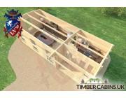 Log Cabin Rhondda 8m x 3.5m 006