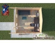 Log Cabin Ribchester 4m x 4m 004