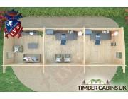 Log Cabin Rochdale 10.5m x 3.5m 006