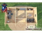 Log Cabin Rotherham 7.5m x 4m 007