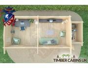 Log Cabin Salford 8.5m x 3.5m 007