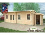 Log Cabin Salford 8.5m x 3.5m 003