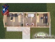 Log Cabin Samlesbury 10.5m x 3.5m 004