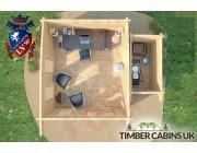 Log Cabin Sandwell 5m x 4m 007