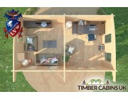 Log Cabin Sefton 6m x 3.5m 007