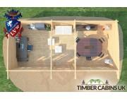 Log Cabin Solihull 8.5m x 4m 006