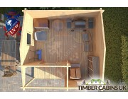 Log Cabin Stratford-on-Avon 3.6m x 3.6m 004
