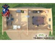 Log Cabin Swansea 8.5m x 4m 006