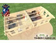 Log Cabin Swansea 8.5m x 4m 005