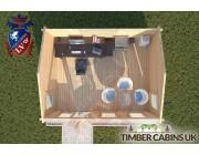 Log Cabin Tosside 4.5m x 3.5m 004