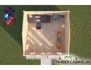 Log Cabin Waddington 4.5m x 4.5m 004