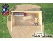 Log Cabin Wakefield 4.5m x 2.5m 006