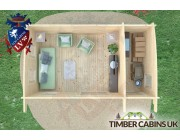 Log Cabin Walsall 6m x 3.5m 006