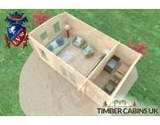 Log Cabin Walsall 6m x 3.5m 005