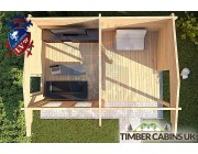 Log Cabin Waveney 4.75m x 2.95m 004