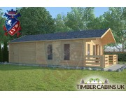 Log Cabin Wennington 5m x 9m 001