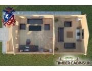 Log Cabin Wennington 5m x 9m 004