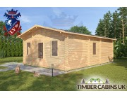 Log Cabin West Wiltshire 6.4 x 7.6m 002
