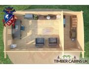 Log Cabin Wolverhampton 7.5m x 4m 006