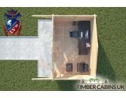 Log Cabin Worston 4.5m x 3m 004