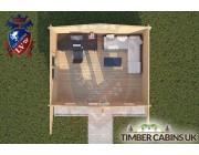 Log Cabin Dalton 5m x 4m 004