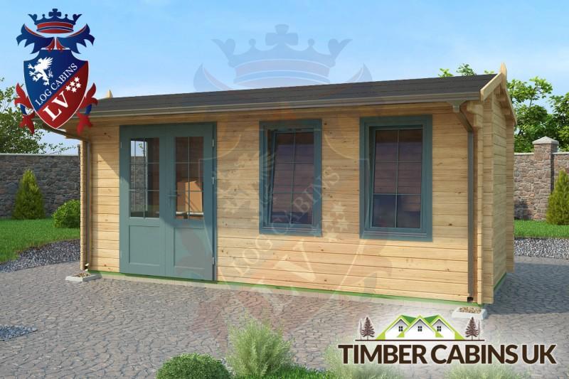 Log Cabin Halton 5.5m x 2.5m 001