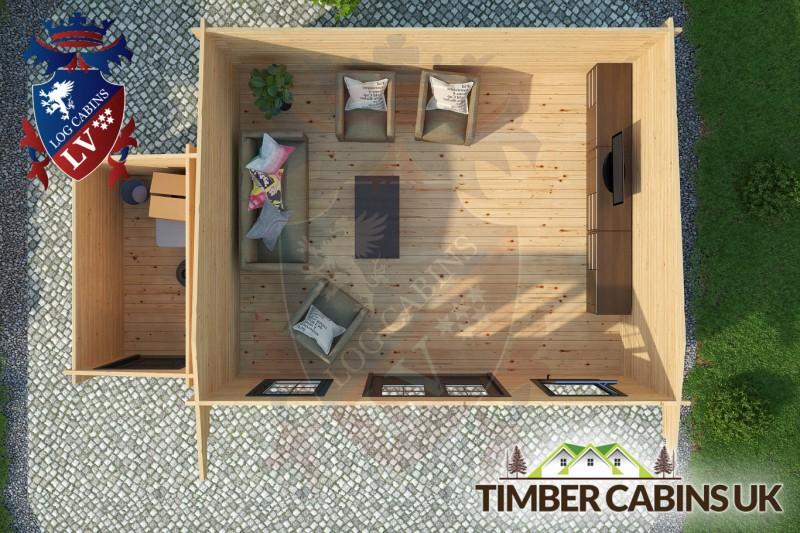 Log Cabin Newcastle-under-Lyme 6.5m x 4m 001