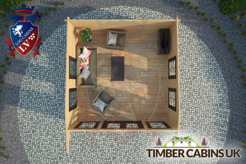 Log Cabin Thanet 4m x 4m 001