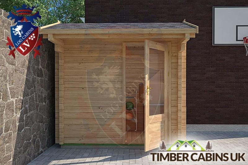 Log Cabin Aledale 2.35m x 1.75m 001