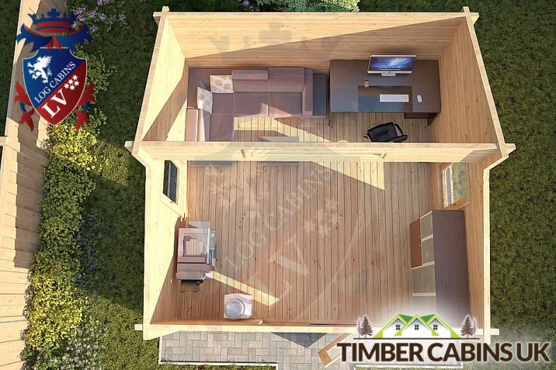 Log Cabin Angus 4m x 4m 001