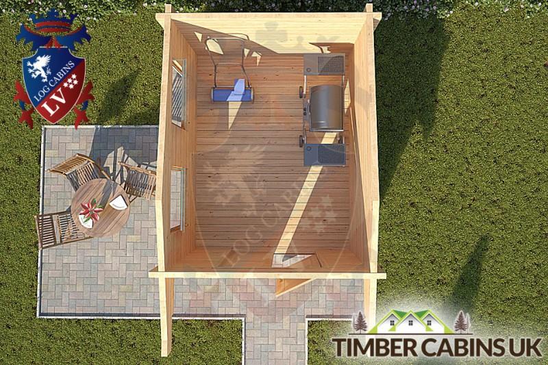 Log Cabin Ashfield 2.35m x 2.95m 001