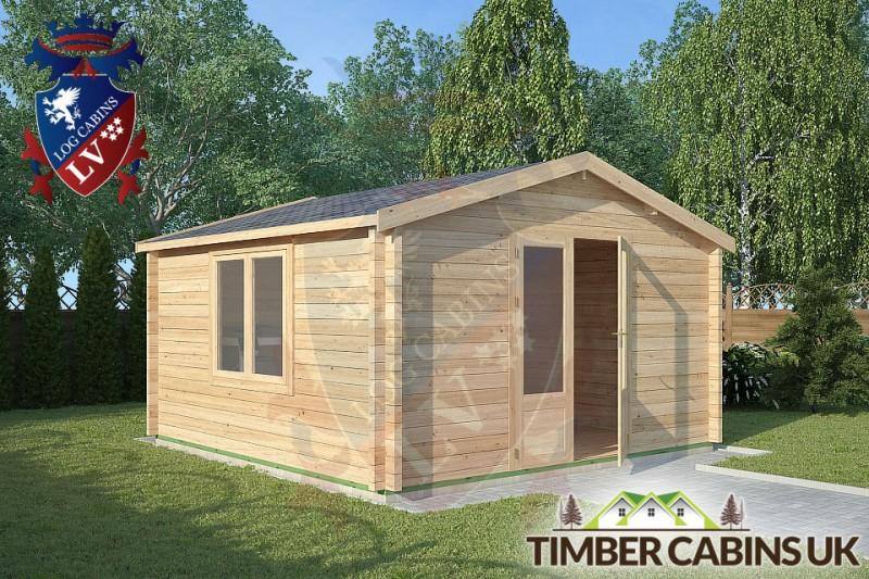 Log Cabin Bashall Eaves 4m x 4m 001