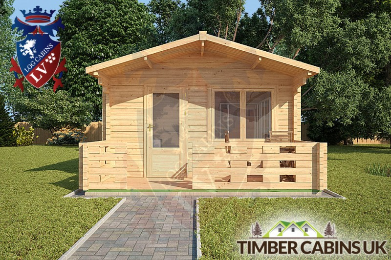 Log Cabin Bath 4m x 3m 001