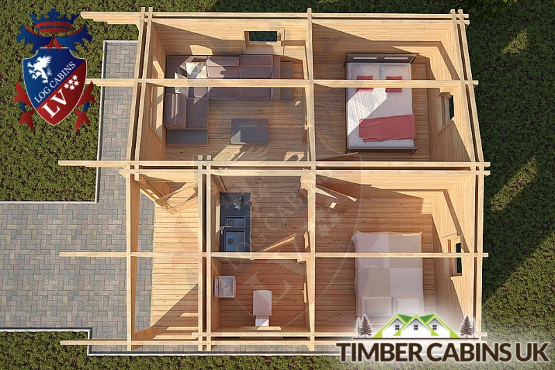 Log Cabin Beverley 6m x 7m 001