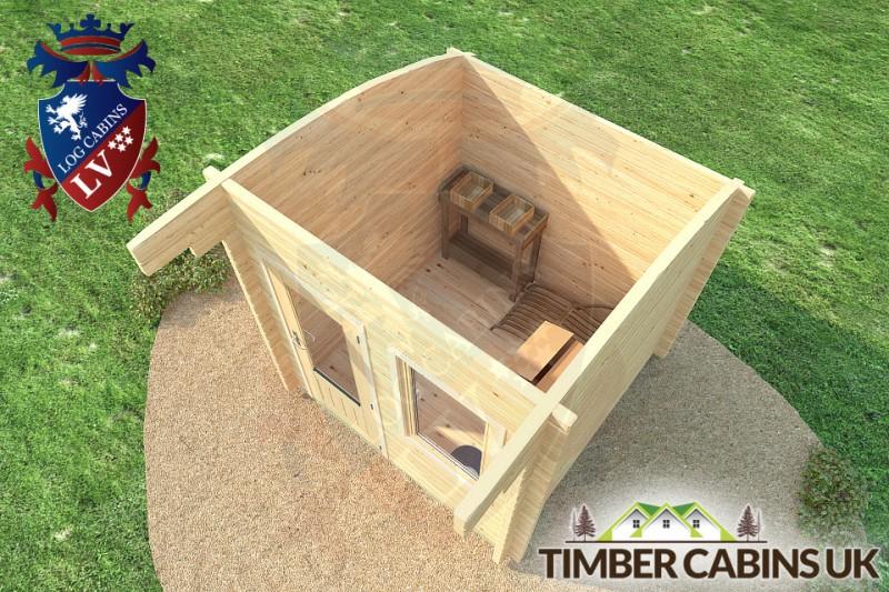 Log Cabin Birmingham 2.5m x 2.5m 001