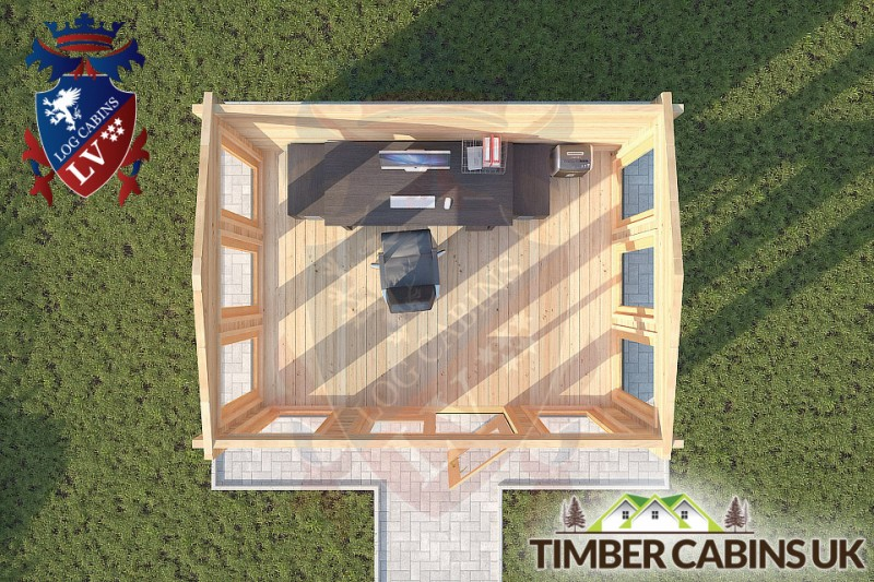 Log Cabin Bolton-by-Bowland 4m x 3m 001