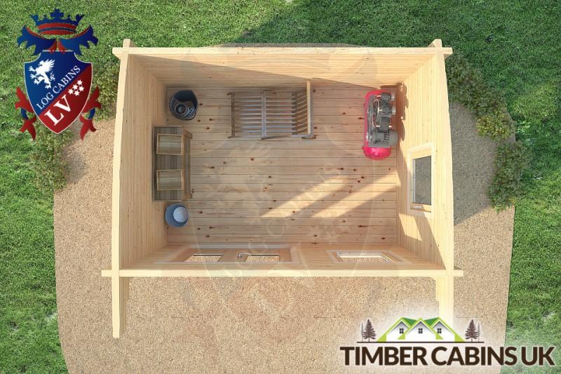 Log Cabin Bradford 3.5m x 2.5m 001