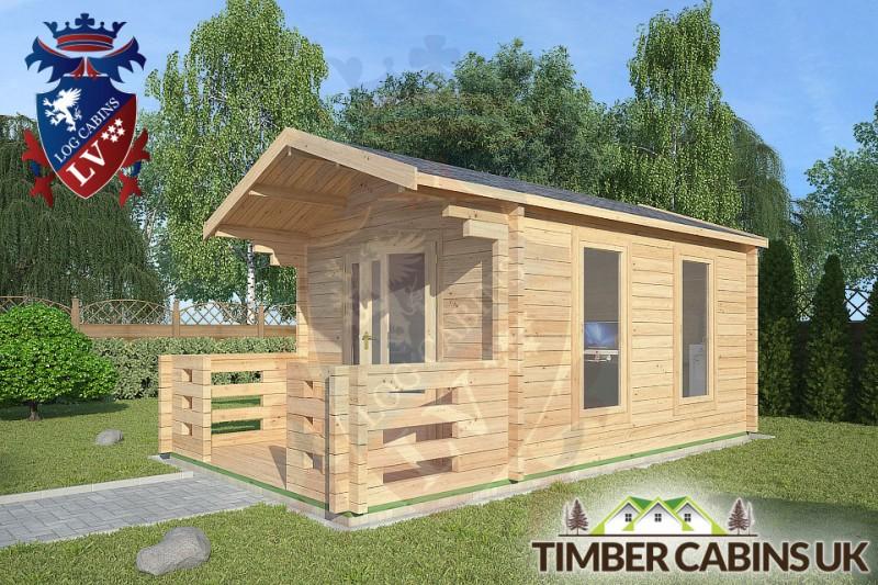 Log Cabin Bury 3m x 4m 001