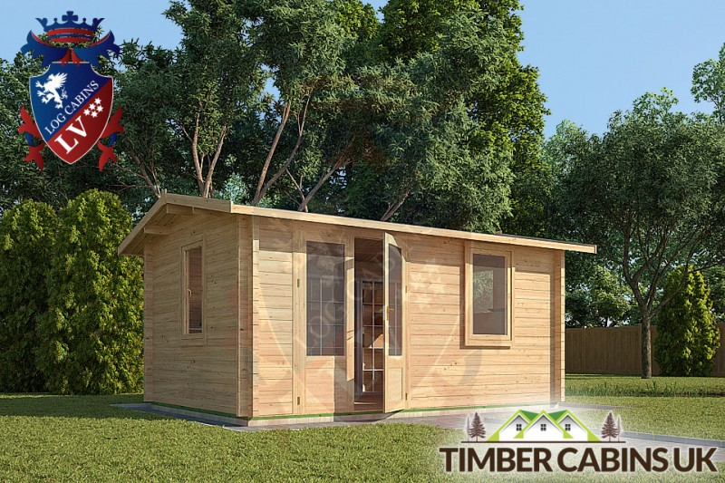 Log Cabin Caerphilly 4m x 3m 001