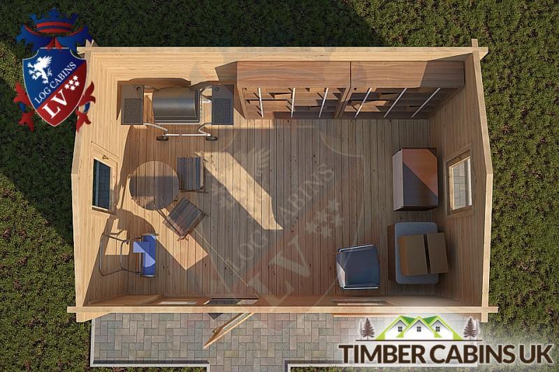 Log Cabin Caerphilly 4m x 3m 001