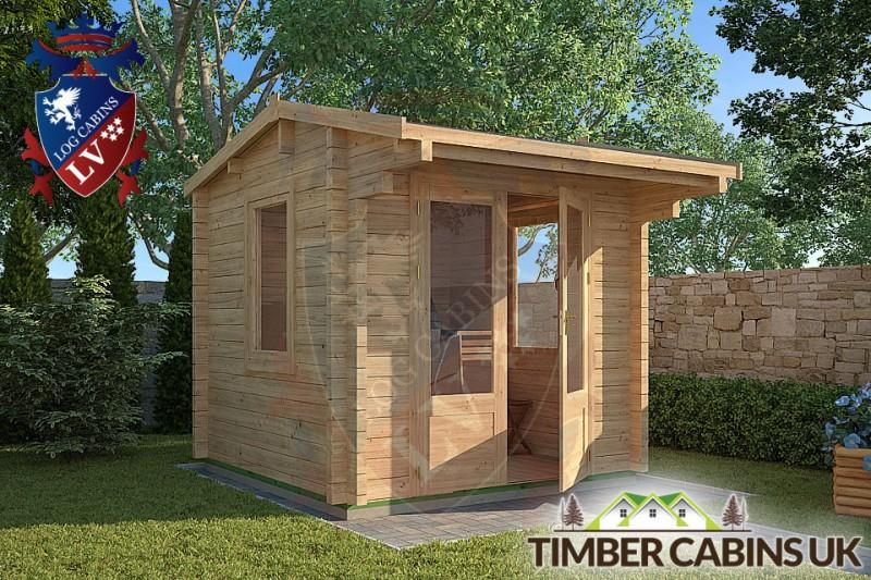 Log Cabin Cheltenham 2.35m x 2.35m 001
