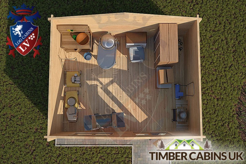 Log Cabin Colchester 5m x 4m 001