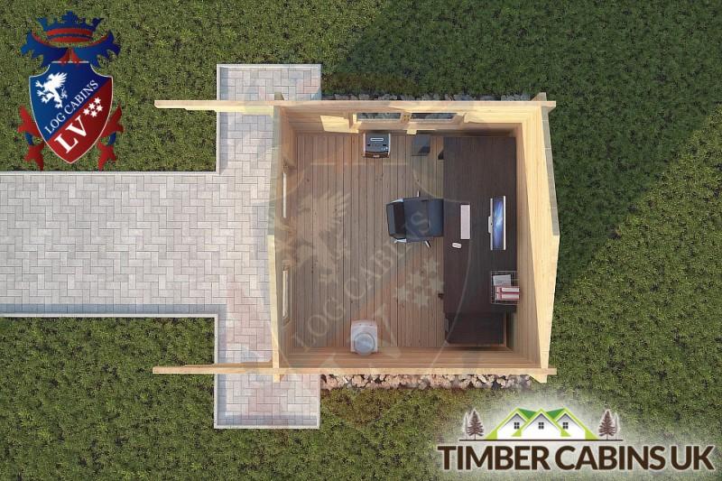 Log Cabin Colne 3m x 3m 001