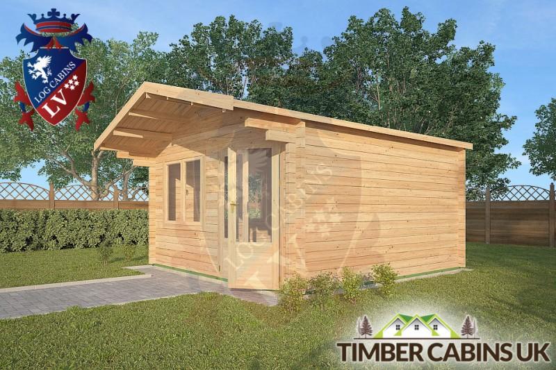 Log Cabin Downham 4m x 4m 001