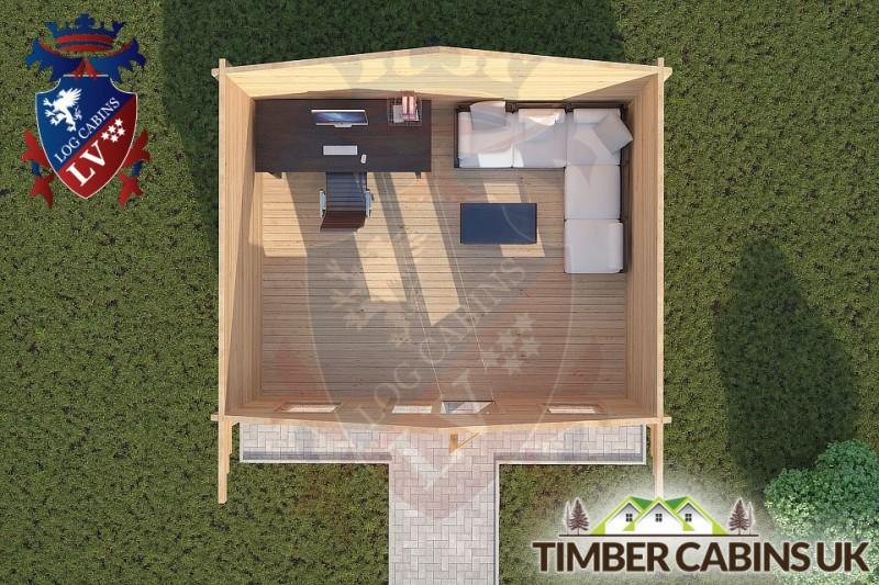 Log Cabin Downholland 5m x 4m 001