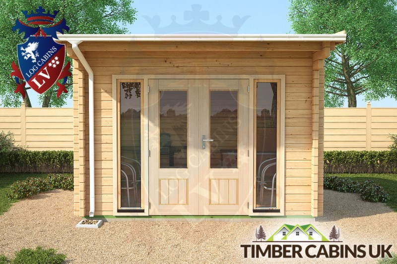Log Cabin Edinburgh 3.5m x 3m 001