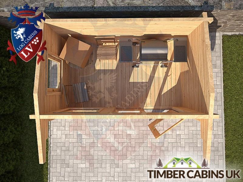 Log Cabin Erewash 2.95m x 1.75m 001