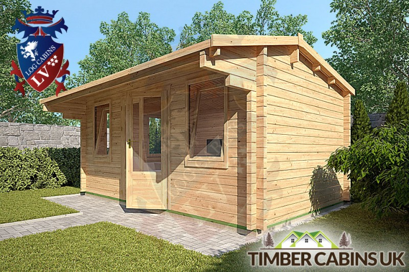 Log Cabin Exeter 4.75m x 2.95m 001